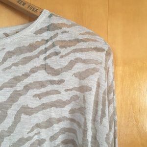 Sheer Zebra Stripe Sweater